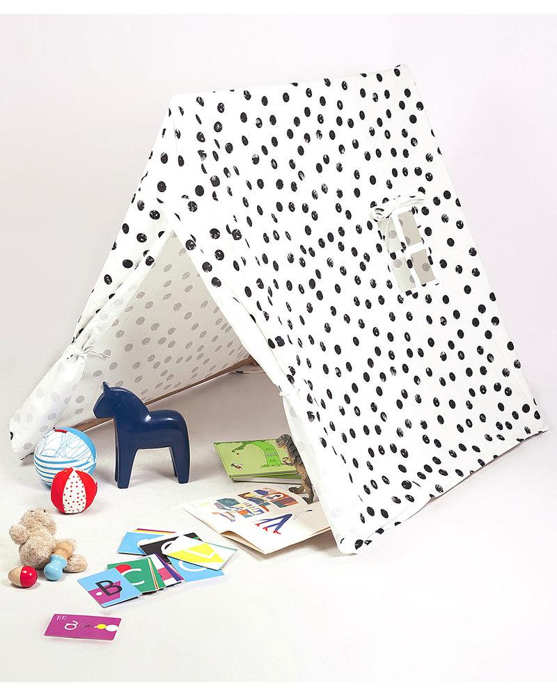 Lettino da viaggio light baby bjorn : Deuz tenda gioco da campeggio pois neri 1m x 1m x 1m cotone