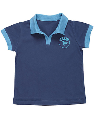 Dis Une Couleur T-Shirt Polo Pera - Blu - 100% Cotone Bio T-Shirt e Canotte