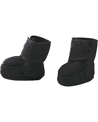 Disana Boiled Wool Booties, Anthracite Slippers
