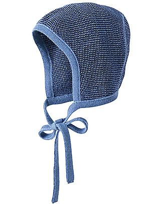 Disana Cappellino Bebé, Blu Melange - 100% lana merino Cappelli