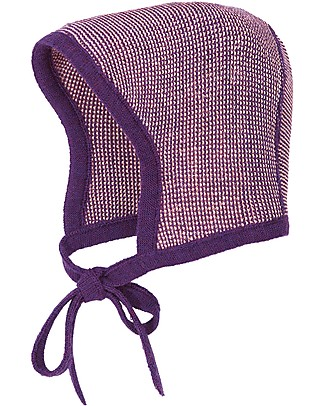 Disana Cappellino Bebé, Prugna Melange - 100% lana merino Cappelli