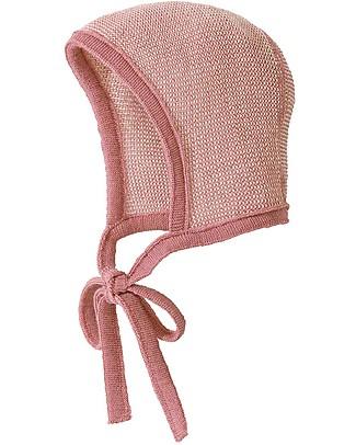 Disana Cappellino Bebé, Rosa Naturale - 100% lana merino Cappelli