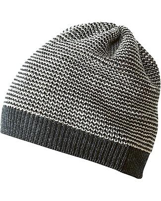 Disana Cappellino Classico, Grigio Antracite Melange - 100% lana merino Cappelli