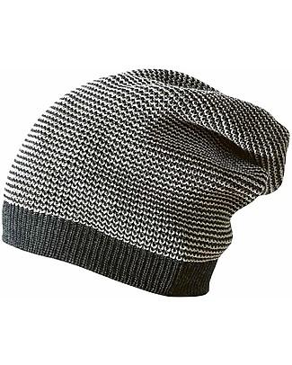 Disana Cappellino Extra long, Grigio Antracite Melange- 100% lana merino Cappelli