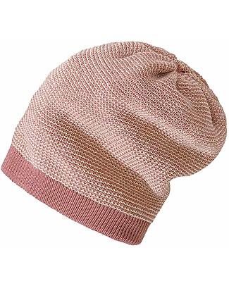 Disana Cappellino Extra long, Rosa Naturale - 100% lana merino Cappelli