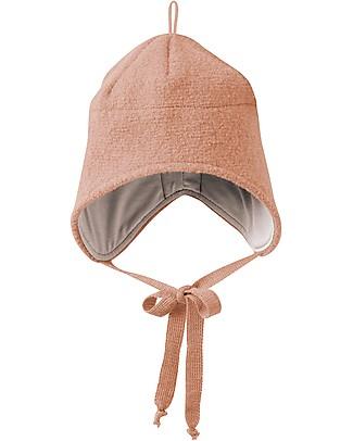Disana Cappellino in Lana Cotta con Stringhe, Rosa - 100% lana merino Cappelli