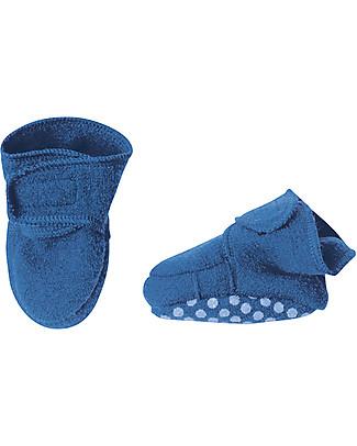 Disana Pantofoline in Lana Cotta, Celeste Pantofole