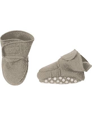 Disana Pantofoline in Lana Cotta, Grigio Chiaro Pantofole