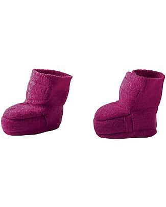 Disana Pantofoline in Lana Cotta, Lampone Pantofole