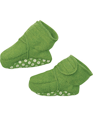 Disana Pantofoline in Lana Cotta, Verde Pantofole