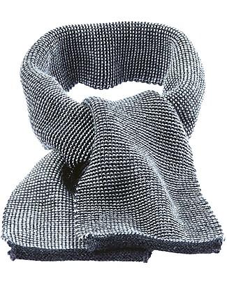 Disana Sciarpa Melange, Grigio Antracite - 100% lana merino Sciarpe e Mantelle