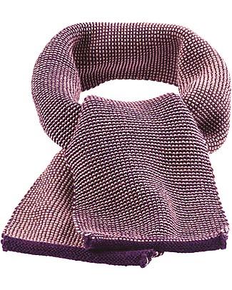 Disana Sciarpa Melange, Prugna - 100% lana merino Sciarpe e Mantelle