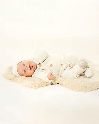 Disana Tutina Baby Manica Lunga, Panna - 100% lana merino Tutine Lunghe Senza Piedi