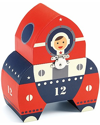 Djeco Carillon Portagioie, Navicella Spaziale - Rosso e Blu Giostrine
