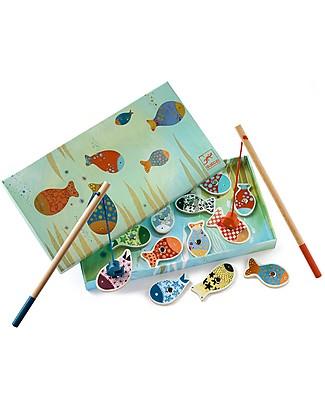 Djeco Gioco della Pesca con Magnete, Pesci - Legno Incastri In Legno