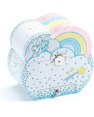 Djeco Musical Box, Unicorns's Dream - Pink and Light Blue Mobiles