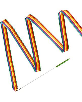 Djeco Nastro da Ginnastica Arcobaleno Jolyruban - Lungo 4 metri! Giochi all'Aperto