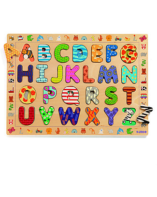 Djeco Puzzle in Legno delle Lettere, ABC Giochi Da Tavolo
