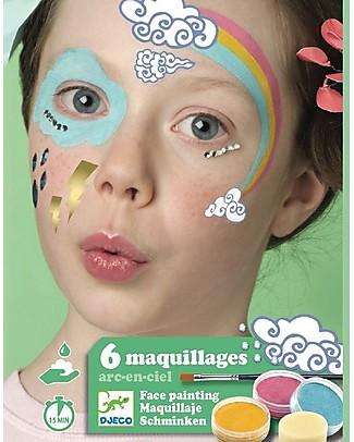 Djeco Set Truccabimbi per il viso - Arcobaleno Tatuaggi