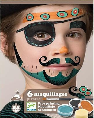 Djeco Set Truccabimbi per il viso - Pirata Tatuaggi