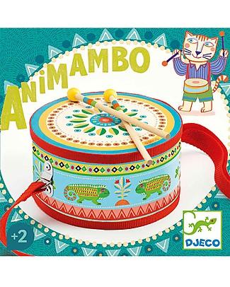 Djeco Tamburo Musicale, Animambo - Con bacchette Strumenti Musicali