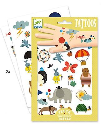 Djeco Tattoo, Natura - Dermatologicamente Testato Tatuaggi