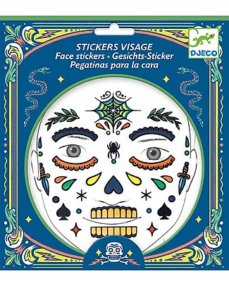 Djeco Tattoo per il viso - Teschio messicano, Calaveras Tatuaggi