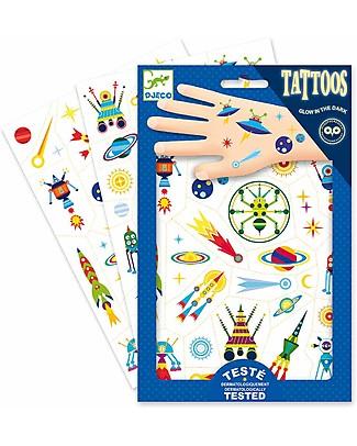 Djeco Tattoo, Space Oddity - Dermatologicamente Testato Tatuaggi
