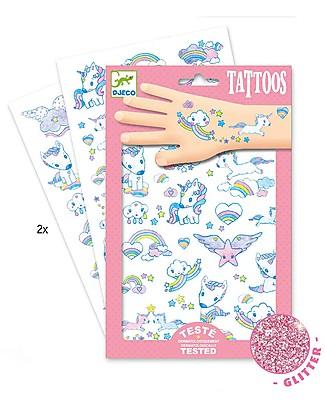 Djeco Tattoo, Unicorni - Dermatologicamente Testato Tatuaggi