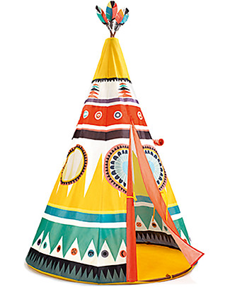 Djeco Tenda Colorata, Tipi - 110 x 164 cm Tende Gioco