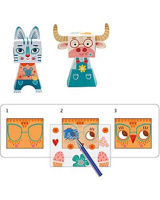 Djeco Trasferelli Funny Animals - Disegna gli animali! Colorare