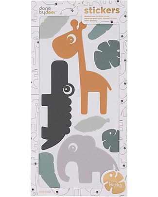 Done By Deer Adesivi da Parete Tiny Tropics - Senza PVC Adesivi Da Parete