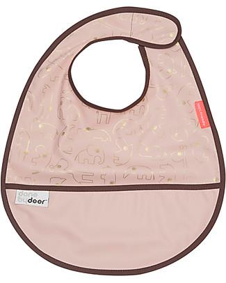 Done By Deer Bavaglino Contour - Oro/Rosa - Chiusura in Velcro Bavagli Impermeabili