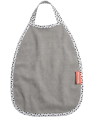 Done By Deer Bavaglino Pullover Impermeabile Happy Dots, Grigio - 100% Spugna di Cotone Bavagli Impermeabili