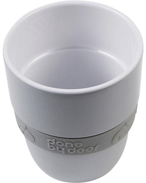 Done By Deer Bicchiere Yummy Elphee 240 ml, Grigio - Facile da afferrare, con cinturino in silicone Tazze e Bicchieri