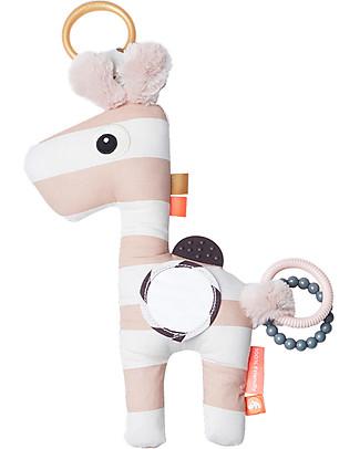 Done By Deer Gioco Multisensoriale con Massaggiagengive Raffi, Rosa Cipria - Dalla Nascita Giochi Per Neonati