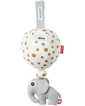 Done By Deer Gioco Musicale Balloon - Gold Dots - 100% Cotone Strumenti Musicali