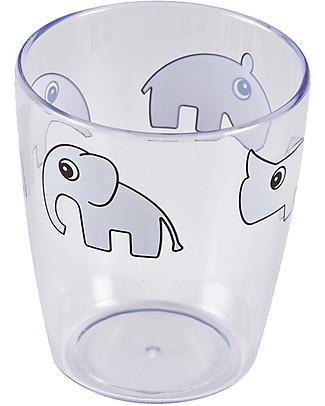 Done By Deer Mini Bicchiere Yummy - Amici di Deer - Grigio - 100% Acrilico Tazze e Bicchieri