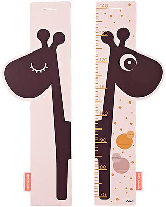 Done By Deer Misuratore d'Altezza - Raffi - Rosa - Fino a 140 cm! Decorazioni