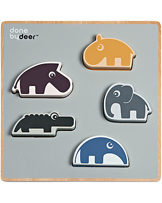 Done By Deer Puzzle a Incastro Chunky Play - Amici di Deer - Legno Puzzle