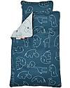 Done By Deer Set Copripiumino e Federa Sleepy, Blu - Baby 70x100 cm - 100% Cotone Copripiumino e Federe
