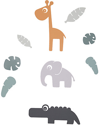 Done by Deer Tiny Tropics Adesivi da Parete Tiny Tropics - Senza PVC Adesivi Da Parete