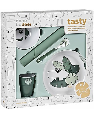 Done by Deer Tiny Tropics Set Pappa - Tiny Tropics - Verde - 5 Pezzi  Set Pappa