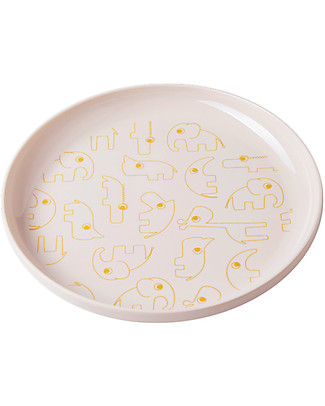 Done By Deer Yummy Plate - Contour - Gold/Powder - Suitable from Birth Bowls & Plates