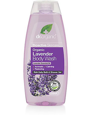 Dr.Organic Detergente Corpo alla Lavanda, 250 ml - Calma, Equilibra ed Illumina  Bagno Doccia Shampoo