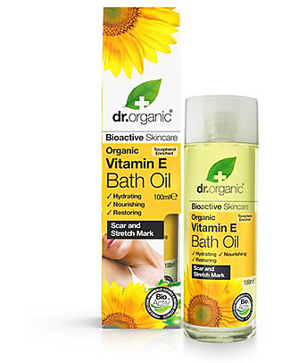 Dr.Organic Olio da Bagno con Vitamina E, 100 ml - Idrata e Nutre la Pelle Creme e Olii