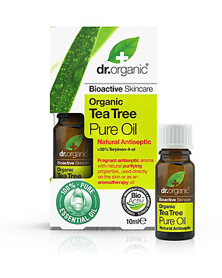 Dr.Organic Olio Essenziale Tea Tree, 10 ml - Purificante Creme e Olii