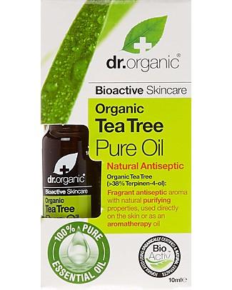 Dr.Organic Olio Essenziale Tea Tree, 10 ml - Purificante Creme e Olii
