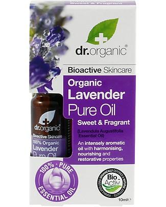 Dr.Organic Olio Puro alla Lavanda, 10 ml - Rilassa e Rinvigorisce Creme e Olii