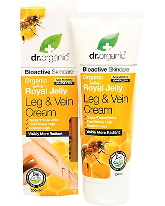Dr.Organic Royal Jelly Leg & Vein Cream, 200 ml - Relaxation for Legs Body Lotions And Oils